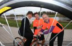First Minister gets on her bike to support Cycle Against Suicide: First Minister Arlene Foster has backed an epic round-Ireland challenge aimed at breaking the cycle of suicide on the island of Ireland.  The fourth annual Cycle Against Suicide will cover fifteen counties and almost 700 miles over two weeks from Sunday 24th April 2016 with over 7,000 cyclists expected to participate in the gruelling charity ride. It will stop off at Portadown, Cookstown and Omagh on the epic journey.   Pictured on her bike is First Minister Arlene Foster with Professor Siobhan O'Neill,  Professor of Mental Health Services at Magee and Cycle Against Suicide volunteer and Paul McBride, Chief Executive of Cycle Against Suicide.