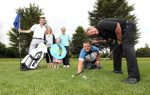 The Ryder Cup won't be the only big golf event taking place in September following the launch of the inaugural Oscar Knox Cup in association with GolfNow which will give local golfers a chance to 'test their metal' against a host of Northern Ireland's sporting celebrities. The Oscar Knox Cup in association with GolfNow will take place at Fortwilliam Golf Club on Friday September 9, 2016, and already confirmed to tee off at the charity event are boxers Carl Frampton and Paddy Barnes, snooker player Mark Allen and local golf wonder-kid Tom McKibben who last year won the Under-12 World Junior Championships at Pinehurst in North Carolina.  Oscar Knox, or 'Wee Oscar' as he was affectionately known, captured the hearts of the nation during a two-and-a-half year battle with cancer and this event has been created in his memory by parents Stephen and Leona to raise funds for childhood cancer research with Solving Kids' Cancer. Pictured getting ready for the event at Fortwilliam Golf Club are (L-R) Stephen Knox, Leona Knox, Isobella Knox, Andrew Hollywood of GolfNow, snooker player Mark Allen and sports commentator Adrian Logan.  Teams can register by emailing oscarknoxcup@gmail.com but places are limited so people will need to be quick to avoid disappointment.
